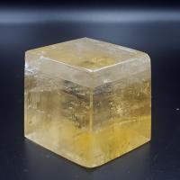 Golden Optical Calcite Rhombohedron No13