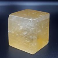 Golden Optical Calcite Rhombohedron No14
