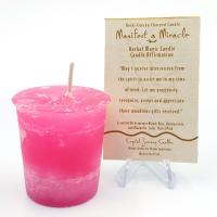 Manifest a Miracle- Reiki Charged Votive Candle