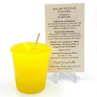 Solar Plexus Chakra Votive Candle by Crystal Journey
