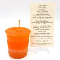 Sacral Chakra Votive Candle by Crystal Journey