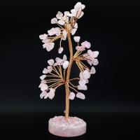 Rose Quartz Crystal Gem Tree