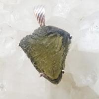 Genuine Green Moldavite Pendant #35