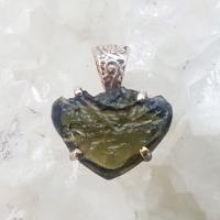 Genuine Green Moldavite Pendant #47