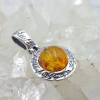 Amber Elfin Pendant in Sterling Silver