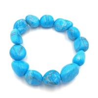 Blue Howlite Tumble Stone Bracelet