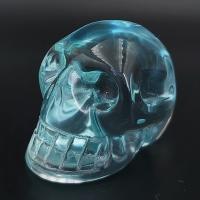 Blue Obsidian Crystal Skull