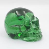 Green Obsidian Crystal Skull