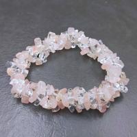 Rose Quartz & Clear Quartz Bracelets