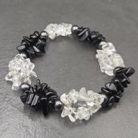 Quartz & Obsidian Twist Bracelet