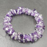 Amethyst & Quartz Triple Strung Bracelet