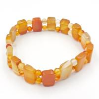 Carnelian Pillow Bead Bracelet