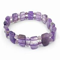 Amethyst Pillow Beaded Bracelet