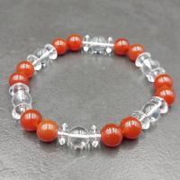 Carnelian and Quartz Bracelet