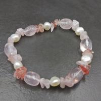 Rose Quartz and Pearl Bracelet