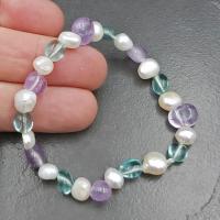 Pearl & Amethyst Beaded Bracelet