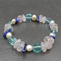Pearl & Lapis Bead Bracelet