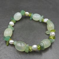 Serpentine and Pearl Bracelet