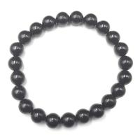 Black Tourmaline 8mm Round Bead Bracelet