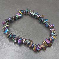 Rainbow Hematite Chip Bracelet