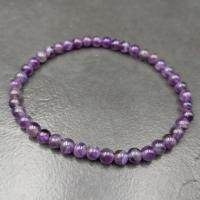 Amethyst 4mm Beaded Bracelet