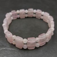 Rose Quartz Pillow Bead Bracelet