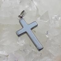 Small Hematite Cross Pendant