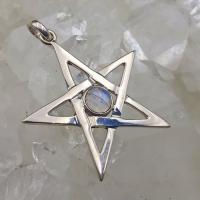 Moonstone Pentagram Pendant Silver 925