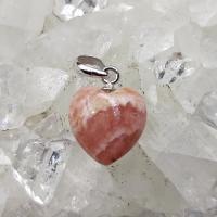 Rhodochrosite Heart Pendants