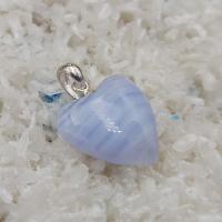 Blue Lace Heart Pendant