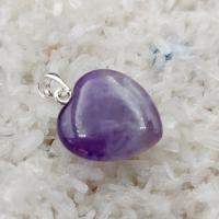 Amethyst Gemstone Heart Pendant