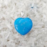 Blue Howlite Gemtone Heart Pendant