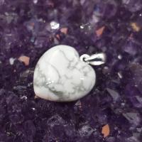 White Howlite Gemtone Heart Pendant