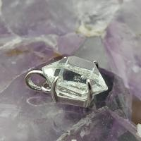 Herkimer Diamond in Craddle Pendant