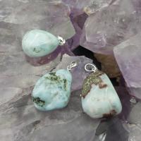 Larimar Tumble Stone Pendants
