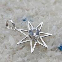 Danburite Seven Pointed Star Pendant