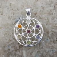 Flower of Life Chakra Mandala II Pendant SP