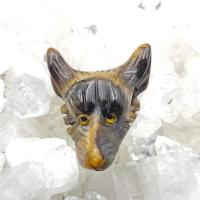 Tiger Eye Wolf Head Pendant