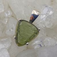 Genuine Green Moldavite Pendant #P103