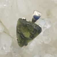 Genuine Green Moldavite Pendant #P104
