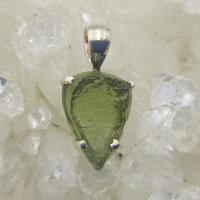 Genuine Green Moldavite Pendant #P106
