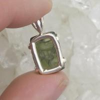 Genuine Green Moldavite Pendant #P107