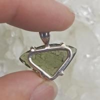Genuine Green Moldavite Pendant #P108