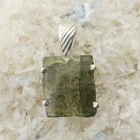 Genuine Green Moldavite Pendant #P101