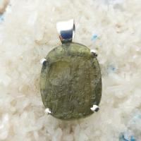 Genuine Green Moldavite Pendant #P102