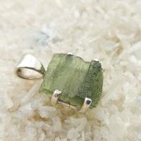 Genuine Green Moldavite Pendant #P113