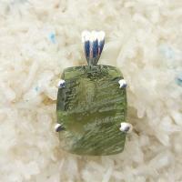 Genuine Green Moldavite Pendant #P115