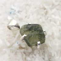 Genuine Green Moldavite Pendant #P118