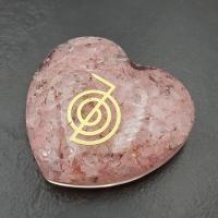 Rose Quartz Orgone Organite Heart 5cm