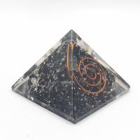 Black Tourmaline Orgone Organite Pyramid 40mm wide